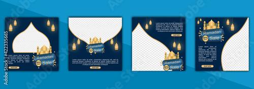 Fototapeta Template Instagram Post Ramadan For Islamic, Ramadan, Eid Mubarak, Template Sale obraz