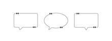 Speech Bubble Icon Set, Illustration