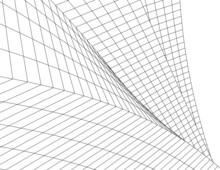 Abstract Wired Geometric Shape 3d