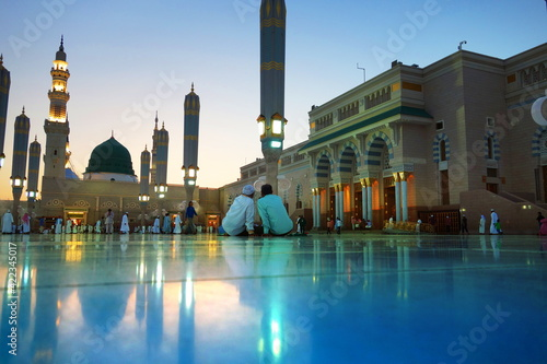 Architecture  works and creativity of Masjid al nabawi in Madinah Fototapet