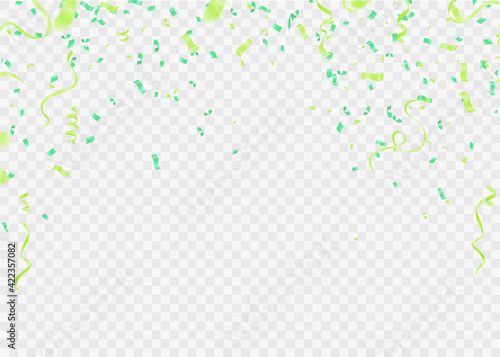 Fototapeta Happy Birthday. Design template with Bunch of colorful balloons, falling confetti for poster, invitation obraz