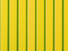 Yellow Corrugated Steel Sheet With Vertical Rails.