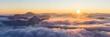 canvas print picture - Aussicht vom Herzogstand, Sonnenaufgang am Walchensee