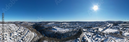 Canvastavla Air view of  the city of Winterberg in Hochsauerland