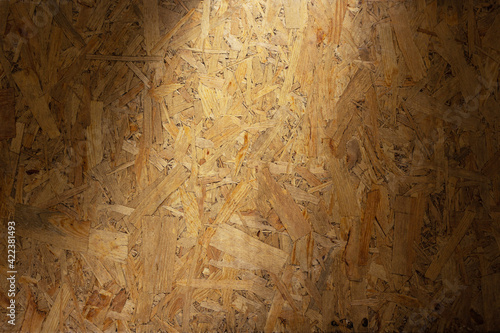 Tela Aged osb wooden background of table or wall texture