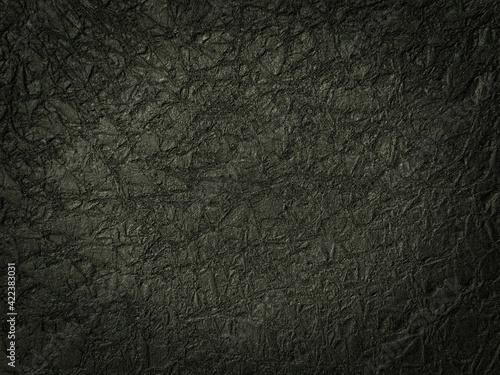 Fototapeta black textured paper for design and background. obraz