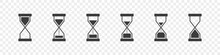 Hourglass Icon Concept. Time Symbol. Sandglass Logo. Clock Signs. Timer Signs. Vector Illustration