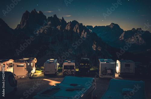 Scenic Starry Sky RV Park Camping in the Dolomites