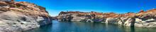 Antelope Creek And Beautiful Canyon Colors Along Lake Powell, Page - Arizona
