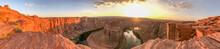 Sunset Over Horseshoe Bend In Summer Season, Arizona