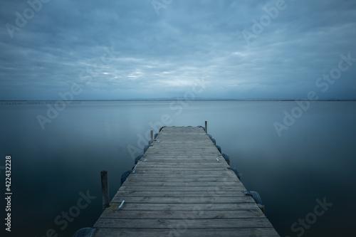 Photo jetty with blue sky
