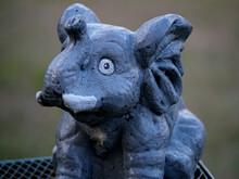Weathered Ceramic Elephant