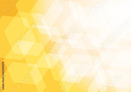 Fototapeta 重なる六角形と鮮やかな黄色い抽象イメージ背景イラスト素材 obraz