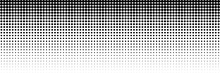 Horizontal Black Dot Circle For Pattern And Background