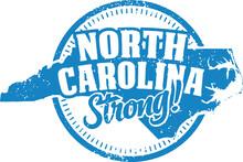 North Carolina State Strong Vintage Style Stamp