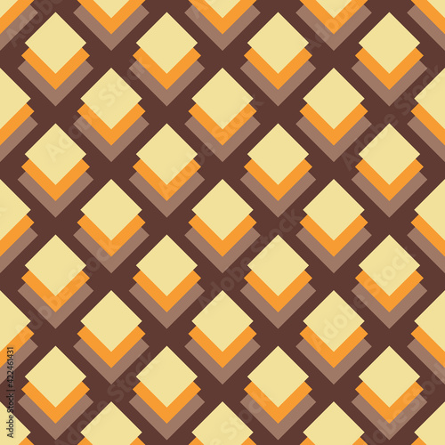 Canvas Print Bold Colorful Small Scale Optical Geo Small Squares Vector Seamless Pattern