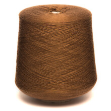 Colored Yarn Threads Brown Isolated