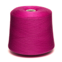 Colored Yarn Threads Pink Isolated