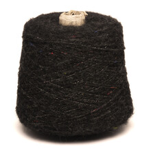 Colored Yarn Threads Black Isolated