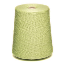 Colored Yarn Threads Green Isolated
