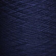 Colored Yarn Threads Blue Macro