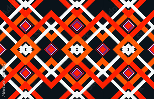 Fotografie, Tablou Tribal ethnic vector pattern