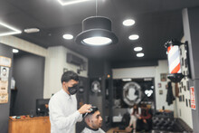 Hairdressing And Barbershop, Artistic And Youthful Cutting Styles.