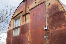 Weathered Steel Container Door