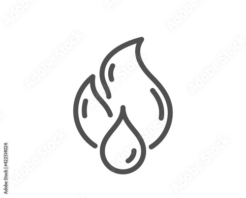 Fototapeta Flammable fuel line icon. Fire energy sign. Vector obraz