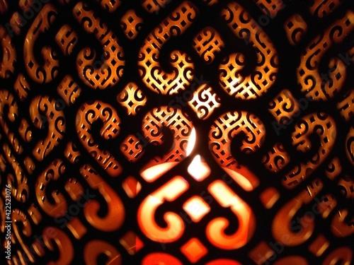 Fototapeta Lampion ze świecą w środku obraz