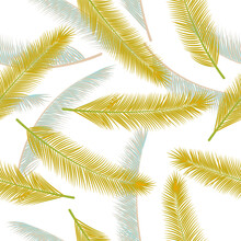 Natural Feather Fluff Vector Seamless Ornament. Magic Illustration. Tribal Boho Feather Fluff Wrapping Paper Pattern.