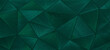 Leinwandbild Motiv Abstract triangular dark green mosaic tile wallpaper texture with geometric fluted triangles background banner