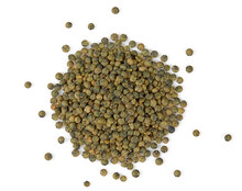 French Lentils Isolated On White Background