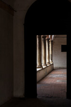Arcade Passageway. Medieval's Portico.