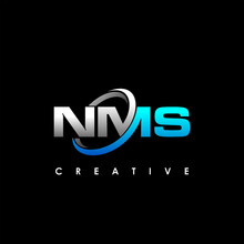 NMS Letter Initial Logo Design Template Vector Illustration