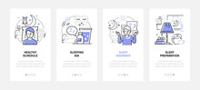 Healthy Sleeping - Modern Line Design Style Web Banners