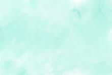 Mint Green Gradient Watercolor Vector Background