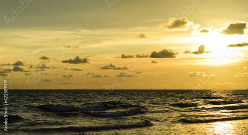 Canvastavla sunset at the beach on the gulf coast
