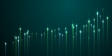Futuristic Vertical Line Rays Fiber Optics