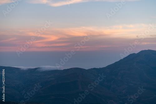 Fototapety, obrazy: Sunset in Sierra Nevada in southern Spain