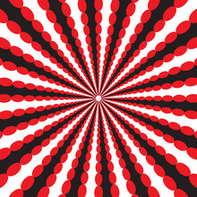 Dynamic Circular Pattern Psychedelic Abstract Background. Optical Illusion Of Movement. Use For Cards, Invitation, Wallpapers, Pattern Fills, Web Pages Elements And Etc.