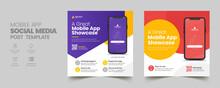 Mobile App Promotion Social Media Post Banner Template