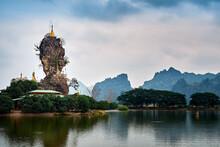 Kyaut Ka Latt Pagoda In Hpa-An, Myanmar