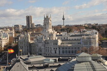 Famous Telecomunications Palace - Madrid City Hall In Madrid, Spain