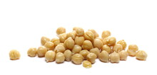 Cooking Chickpeas Pile Isolated On White Background