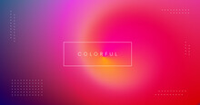 Abstract Minimalist Gradient Background. Modern Colorful Backdrop. Cool Trendy Soft Color Illustration.