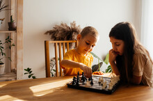 Kids Having Great Time Together Playing Chess