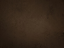 Dark Brown Background With Old Grunge Texture In Abstract Vintage Design