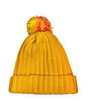 Yellow Crocheted Cap.