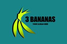 Yellow Banana Logo Design.  Vector Fruit Design, Business Logo, Banana Icon